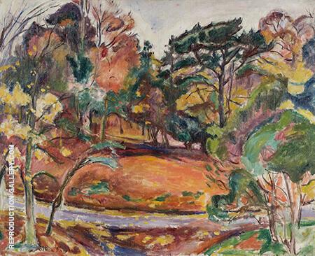 Autumn in Honfleur the Cote de Grace c1906 By Emile Othon Friesz - Oil Paintings & Art Reproductions - Reproduction Gallery