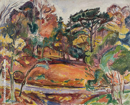 Autumn in Honfleur the Cote de Grace c1906 By Emile Othon Friesz