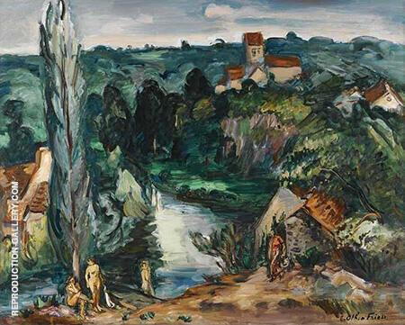 Baigneuses A Saint Leonard 1940 By Emile Othon Friesz