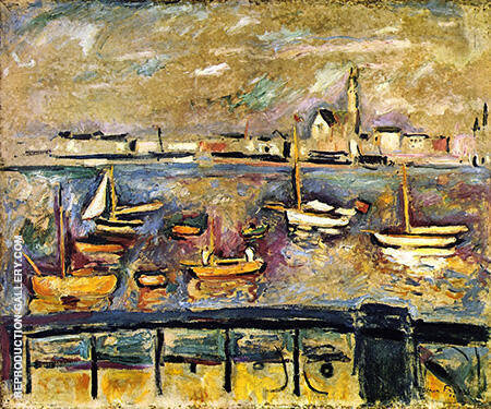 Harbour of Antwerp By Emile Othon Friesz - Oil Paintings & Art Reproductions - Reproduction Gallery
