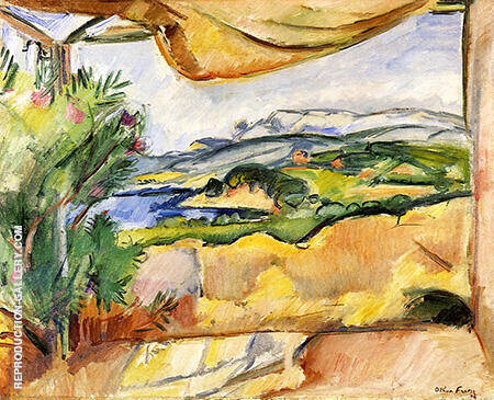Landscape from the Terrace By Emile Othon Friesz