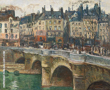 The Pont Neuf 1902 By Emile Othon Friesz - Oil Paintings & Art Reproductions - Reproduction Gallery