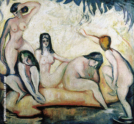 Les Baigneuses 1907 By Emile Othon Friesz - Oil Paintings & Art Reproductions - Reproduction Gallery