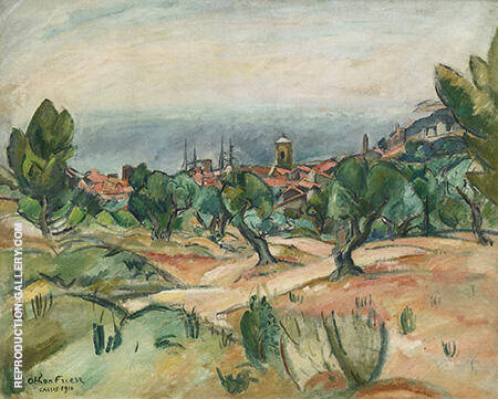 Paysage De Cassis By Emile Othon Friesz - Oil Paintings & Art Reproductions - Reproduction Gallery