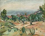 Paysage De Cassis By Emile Othon Friesz