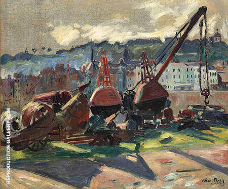 Port de Honfleur 1905 By Emile Othon Friesz