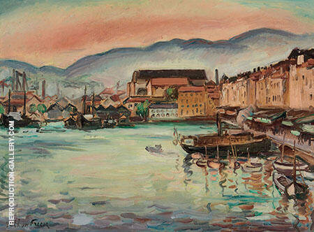 Port de Toulon c1926-29 By Emile Othon Friesz - Oil Paintings & Art Reproductions - Reproduction Gallery