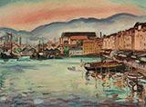 Port de Toulon c1926-29 By Emile Othon Friesz