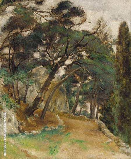 Route De Cassis By Emile Othon Friesz - Oil Paintings & Art Reproductions - Reproduction Gallery