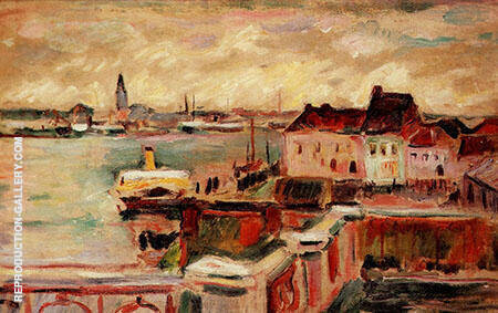 Vue du port d'Anvers 1906 By Emile Othon Friesz