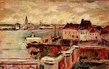 Vue du port d'Anvers 1906 By Emile Othon Friesz