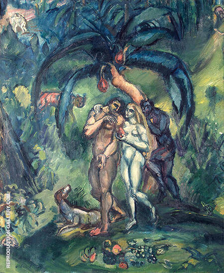 Temptation Adam and Eve c1910 By Emile Othon Friesz - Oil Paintings & Art Reproductions - Reproduction Gallery