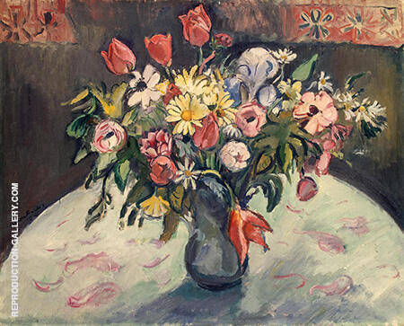 Flowers Tulips and Daisies 1910 By Emile Othon Friesz - Oil Paintings & Art Reproductions - Reproduction Gallery