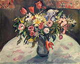 Flowers Tulips and Daisies 1910 By Emile Othon Friesz