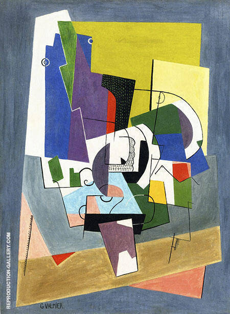 Composition 1921 Painting By Georges Valmier - Reproduction Gallery
