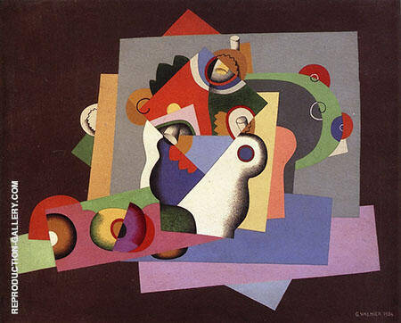 Composition with Flowers 1924 By Georges Valmier