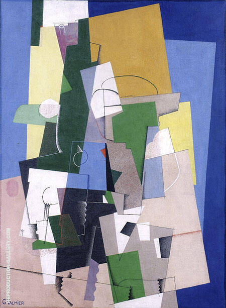 Reproduction of Cubist Composition 1920 by Georges Valmier | Oil Painting Replica On CanvasReproduction Gallery