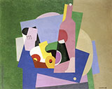 Still Life with Bottle 1923 By Georges Valmier