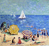 Oak Street Beach 1914 By Minnie Harms Neebe