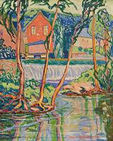 The Dam 1924 By Minnie Harms Neebe