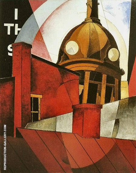 Bienvenue Dans Notre Ville By Charles Demuth - Oil Paintings & Art Reproductions - Reproduction Gallery