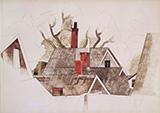 Red Chimneys 1918 By Charles Demuth