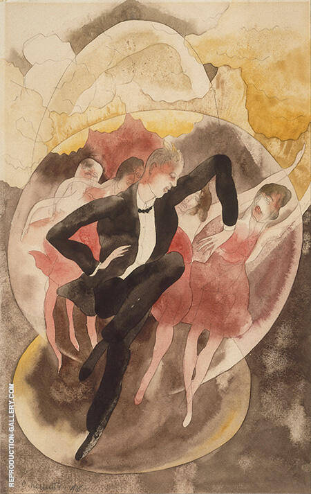 Dancer with Chorus 1918 By Charles Demuth