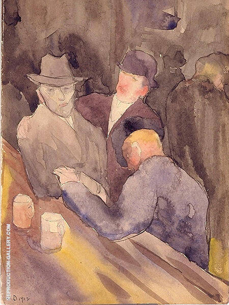 Men at a Bar 1912 By Charles Demuth - Oil Paintings & Art Reproductions - Reproduction Gallery
