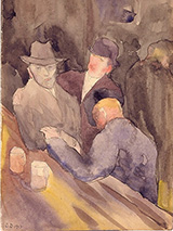 Men at a Bar 1912 By Charles Demuth