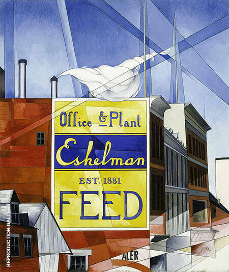 Buildings Lancaster 1930 By Charles Demuth