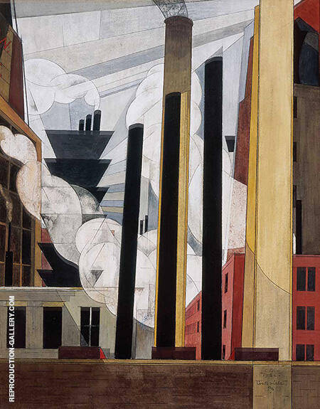 End of the Parade 1920 By Charles Demuth - Oil Paintings & Art Reproductions - Reproduction Gallery