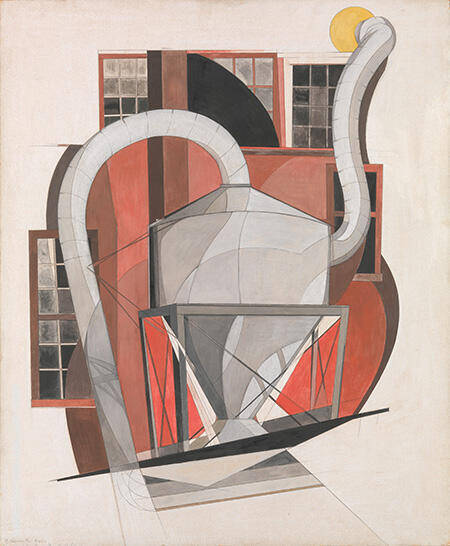 Machinery c1920 Painting By Charles Demuth - Reproduction Gallery
