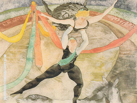 The Circus 1917 By Charles Demuth