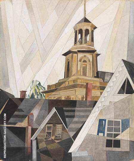 After Sir Christopher Wren 1920 By Charles Demuth - Oil Paintings & Art Reproductions - Reproduction Gallery