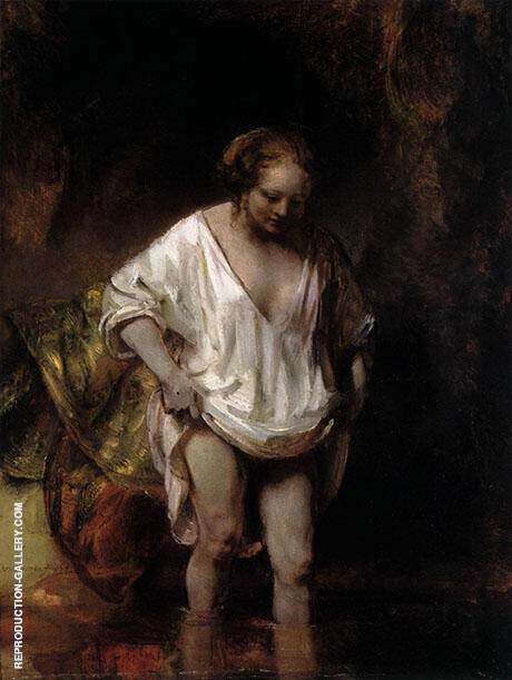 Hendrickje Bathing in a River 1654 By Rembrandt Van Rijn