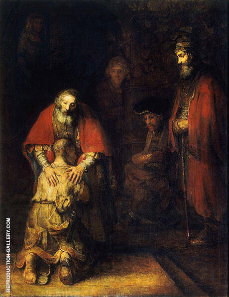 Return of the Prodigal Son c1669 By Rembrandt Van Rijn