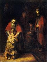 Return of the Prodigal Son c1669 By Rembrandt Van Rijn