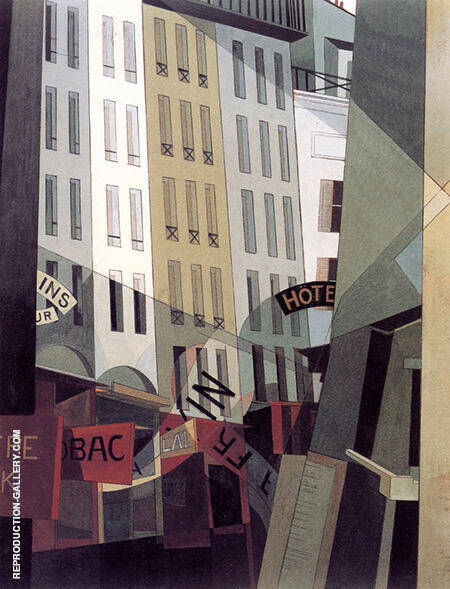 Rue Monkey Who Fishing 1921 Painting By Charles Demuth
