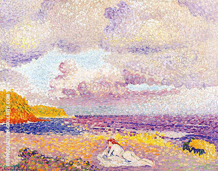An Incoming Storm 1908 By Henri Edmond Cross - Oil Paintings & Art Reproductions - Reproduction Gallery