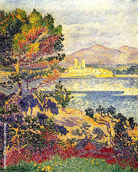 Antibes Morning 1895 By Henri Edmond Cross - Oil Paintings & Art Reproductions - Reproduction Gallery