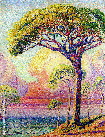 A Pine Tree c1905 By Henri Edmond Cross - Oil Paintings & Art Reproductions - Reproduction Gallery