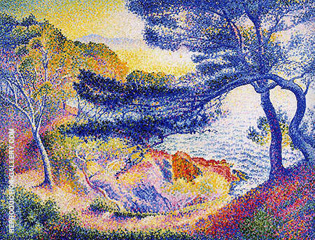 Cape Layet Provence By Henri Edmond Cross - Oil Paintings & Art Reproductions - Reproduction Gallery