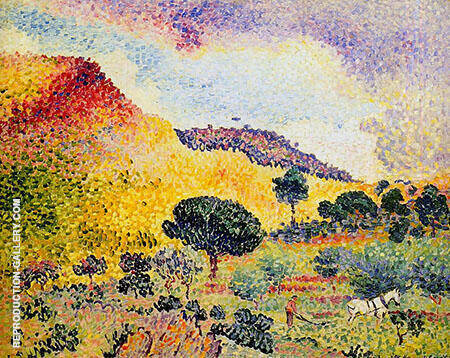 Chaine Des Maures By Henri Edmond Cross - Oil Paintings & Art Reproductions - Reproduction Gallery