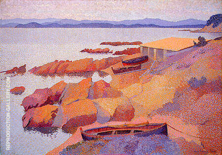 Coast Near Antibes By Henri Edmond Cross - Oil Paintings & Art Reproductions - Reproduction Gallery
