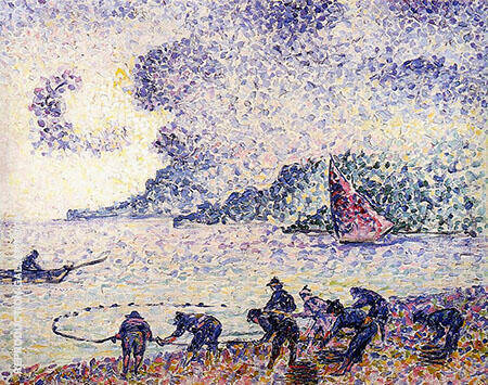 Fisherman 1895 By Henri Edmond Cross - Oil Paintings & Art Reproductions - Reproduction Gallery