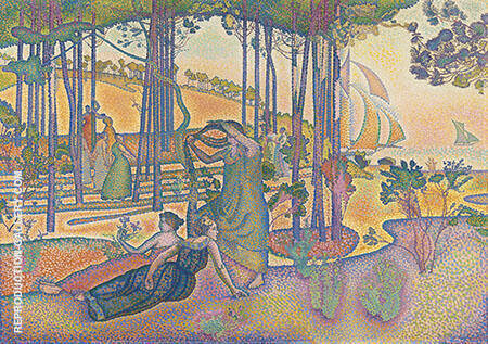 L'air du Soir c1893 Painting By Henri Edmond Cross - Reproduction Gallery