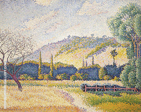 Landscape c1896-1899 By Henri Edmond Cross