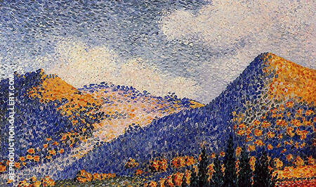 Landscape the Little Maresque Mountains c1896 By Henri Edmond Cross - Oil Paintings & Art Reproductions - Reproduction Gallery