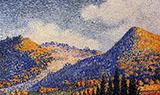 Landscape the Little Maresque Mountains c1896 By Henri Edmond Cross