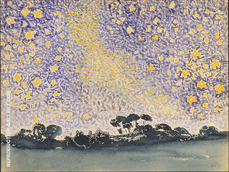 Landscape with Stars c1905 Painting By Henri Edmond Cross
